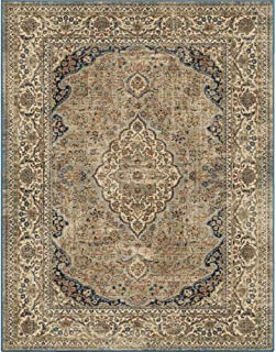 "product image for Orian Rugs Kerman Estate Blue Thatch 6'7""x9'6"""
