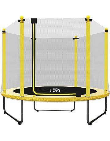 EUR POINT Trampolín para niños de 150 cm con recinto de Seguridad, resortes de Alta
