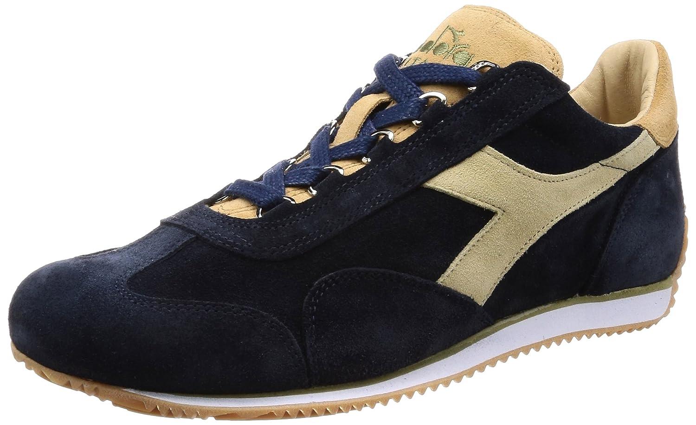 Diadora Heritage - Sneakers Equipe Stone Wash 12 para Hombre y Mujer EU 43 - US 9.5 - UK 9 (cm 27.5) 65068 - Azul Sombra