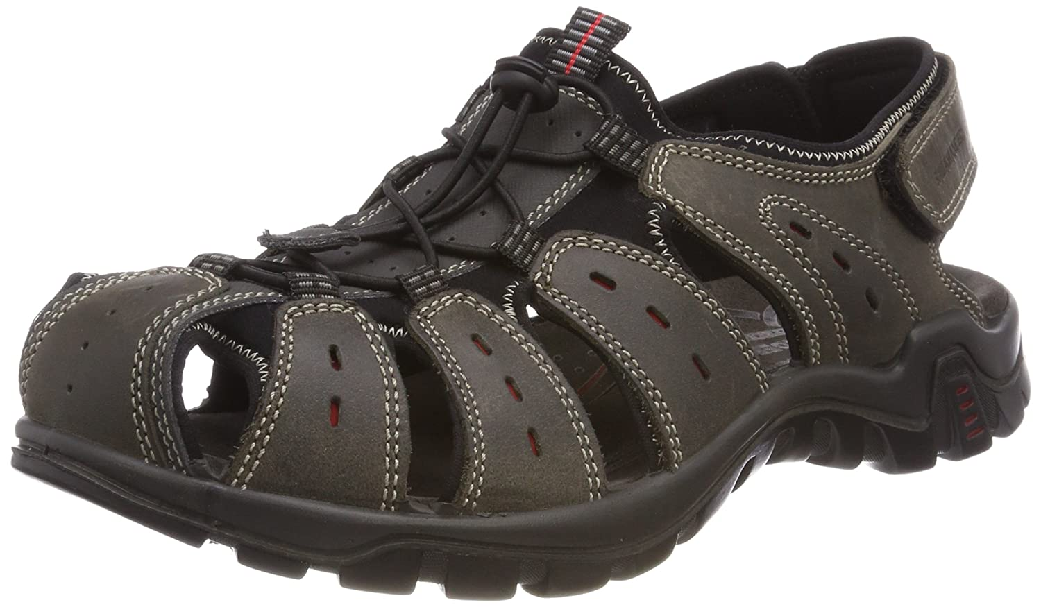 Grey (Dark-grey 15) Salamander Men's's Dino Closed Toe Sandals