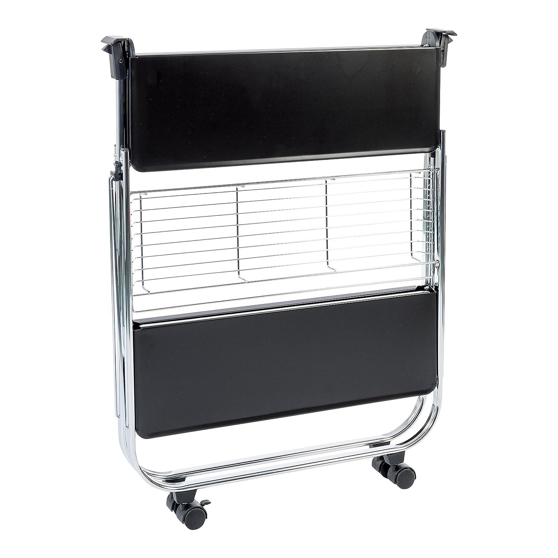 IRIS 531322 Küchenwagen, Metall, weiß, 68,5 43,5 x 43,5 68,5 x 69 cm 5d9990