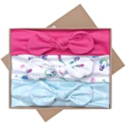 UeeSum Baby Girls Headbands with Bows 3 Pack Infant Toddler Headwrap Hair Accesso