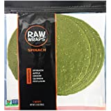 Raw Wraps, Gluten Free, Paleo, Vegan, Keto Friendly Food, Shelf Stable, 5 Wraps per Pack , Vegan, Low Carb Tortilla Wraps, Sp