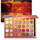 Pro 35 Colors Glitter Eyeshadow Palette with Eyeshadow Brush,Highly Pigmented Pressed Soft Creamy Metallic Matte Shimmer Nake