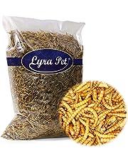 Lyra Pet 1 kg Mehlwürmer getrocknet Futter für Fische Nager Vögel Igel Reptilien