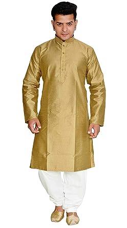 Amazon Com Men Indian Kurta Pajama Salwar Kameez Sherwani With Gold