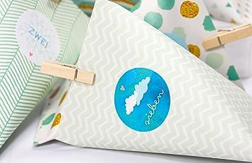 DIY Cajas Cajas verde guirnalda de cajitas para calendario de Adviento para hombres para rellenar Manualidades: Amazon.es: Oficina y papelería