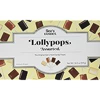 See's Candies ASSORTED LOLLYPOPS 棒棒糖 4钟口味 30支 美国直邮 包邮包税 (1 盒 595 克 30 支)