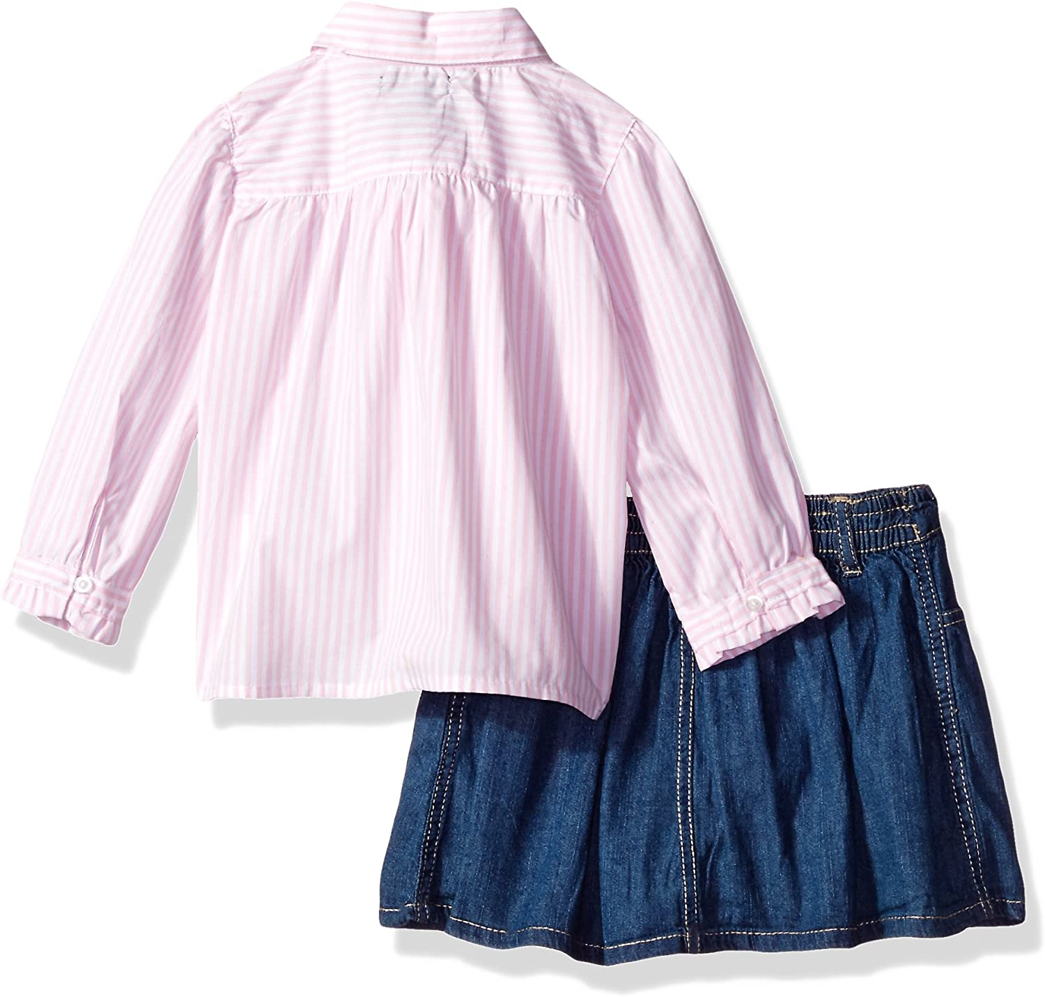 Polo Assn U.S Girls Fashion Top and Skort Set