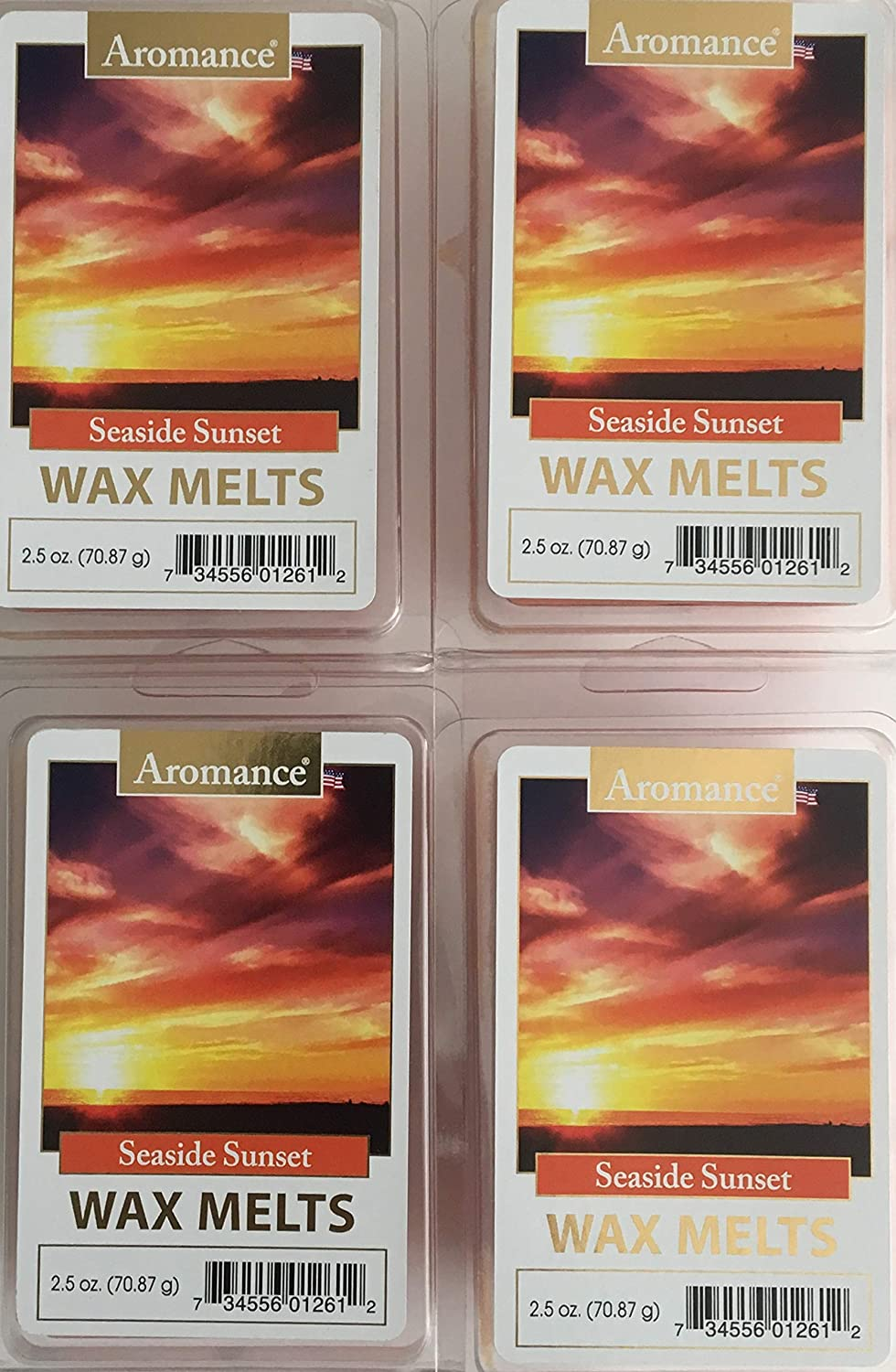 Pack of 4 Aromance Seaside Sunset Wax Melts