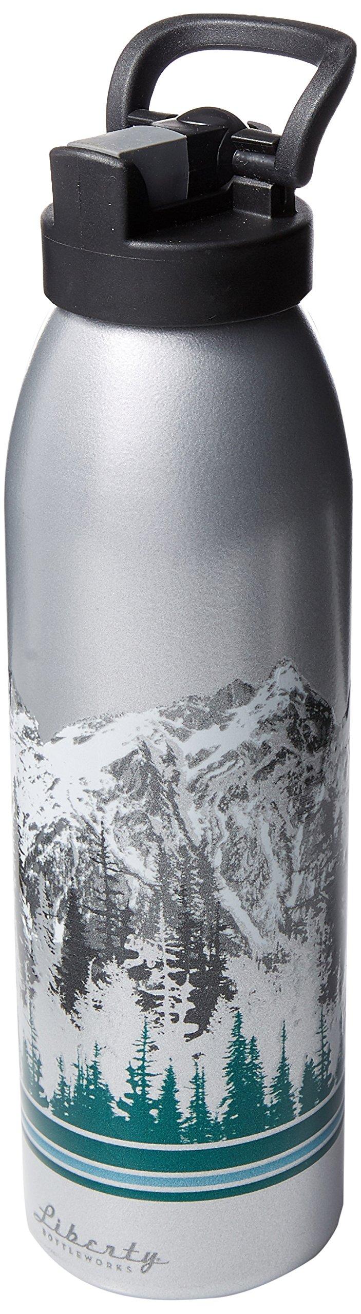 Liberty Bottleworks Ascent Aluminum Water Bottle, Made in USA, 24oz, Aluminum, Sport Cap