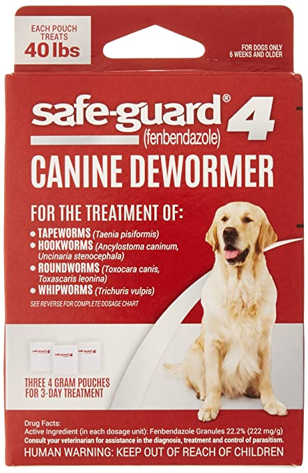 Amazoncom 8in1 Safe Guard Canine Dewormer For Large Dogs 3 Day
