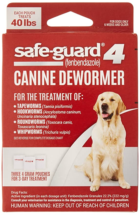 safe guard canine dewormer for large dogs 4 gram amazon ca pet supplies