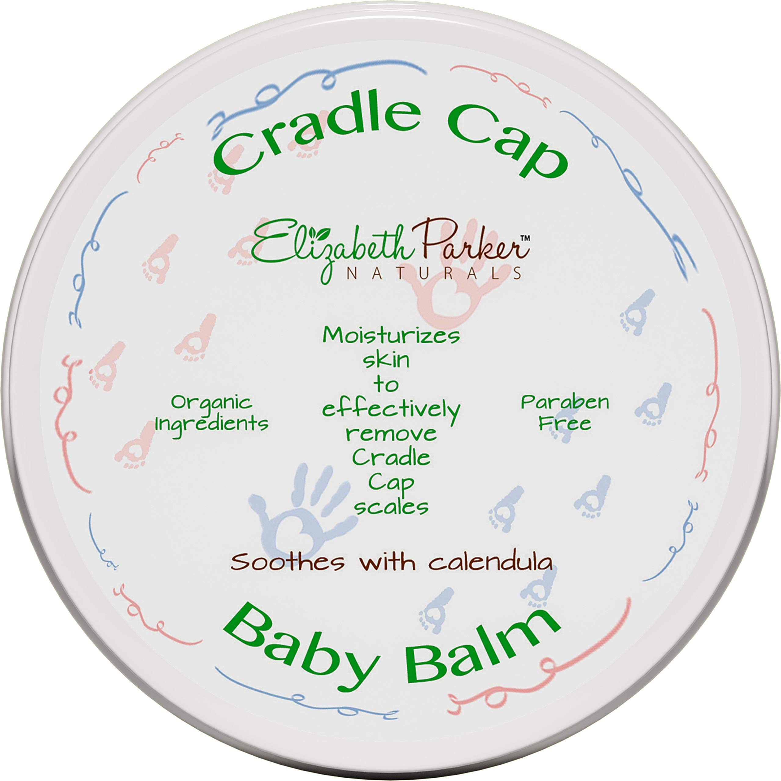 Organic Cradle Cap Baby Balm Dry Scalp Treatment With Manuka Honey - Calendula Oil - Beeswax - Infant Seborrheic Dermatitis - Baby Eczema Relief - Itch and Rash Cream - Paraben Free (2 oz) by Elizabeth Parker Naturals