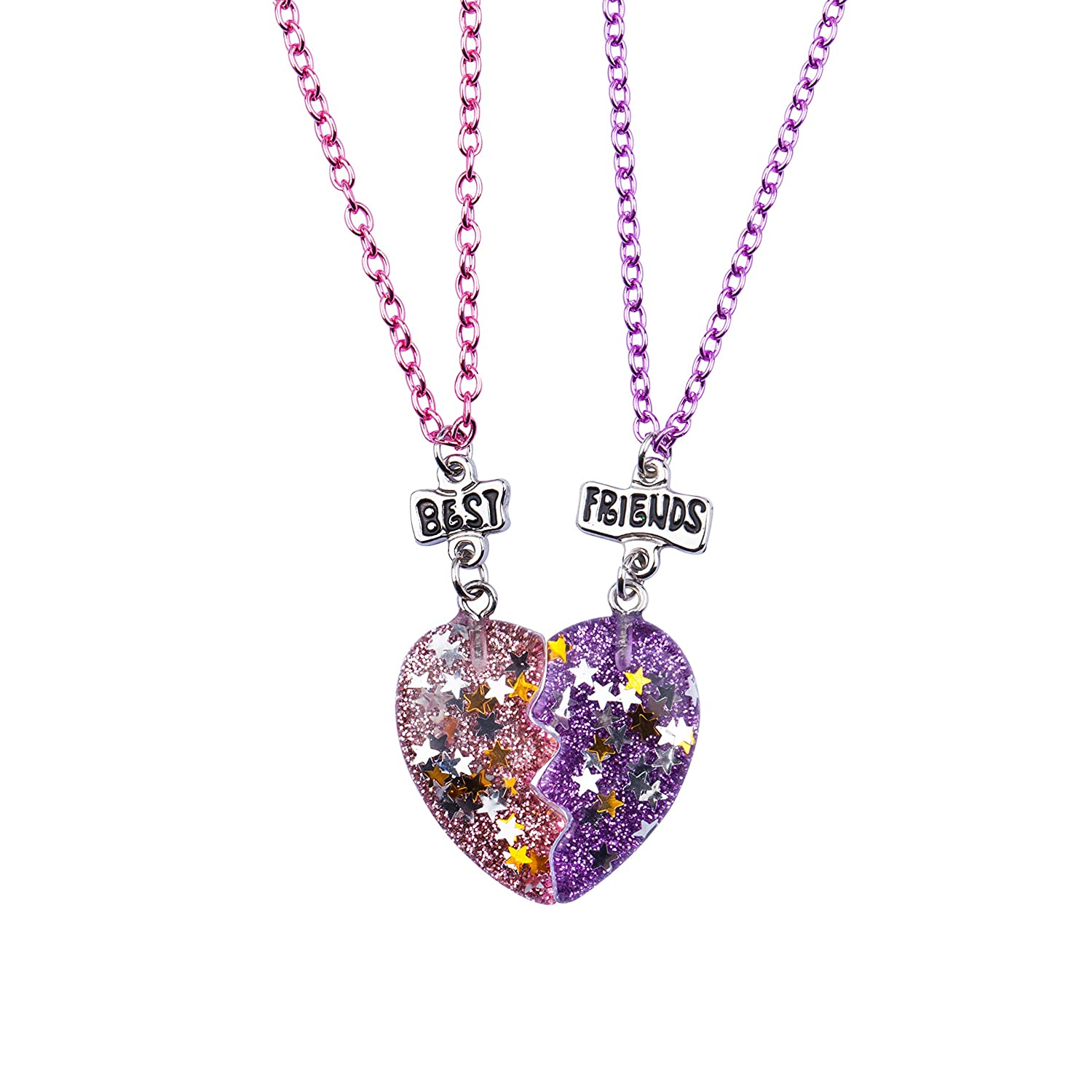 Amazon Skywisewin Half Heart Necklaces For Kids This Bff