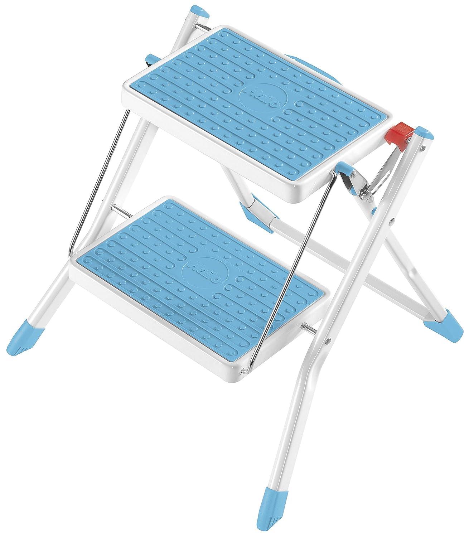 Hailo Stahl-Klapptritt Mini hellblau/weiß , 1 Stü ck, 4310-141