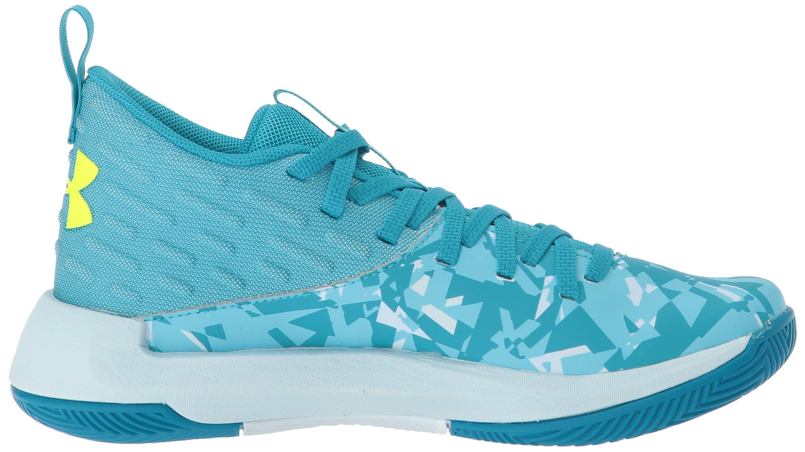 Under Armour Girls' Grade School Lightning 5 Basketball Shoe, Deceit (300)/Halogen Blue, 5.5 by Under Armour (Image #6)