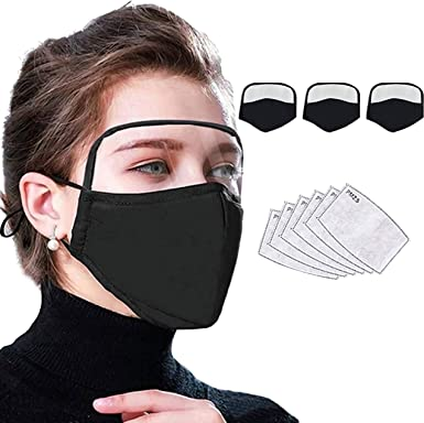 6PCS Fashion Face Protection Reusable Washable For Protective Unisex Black Ice Silk Fabric Covering Cycling Face Guard