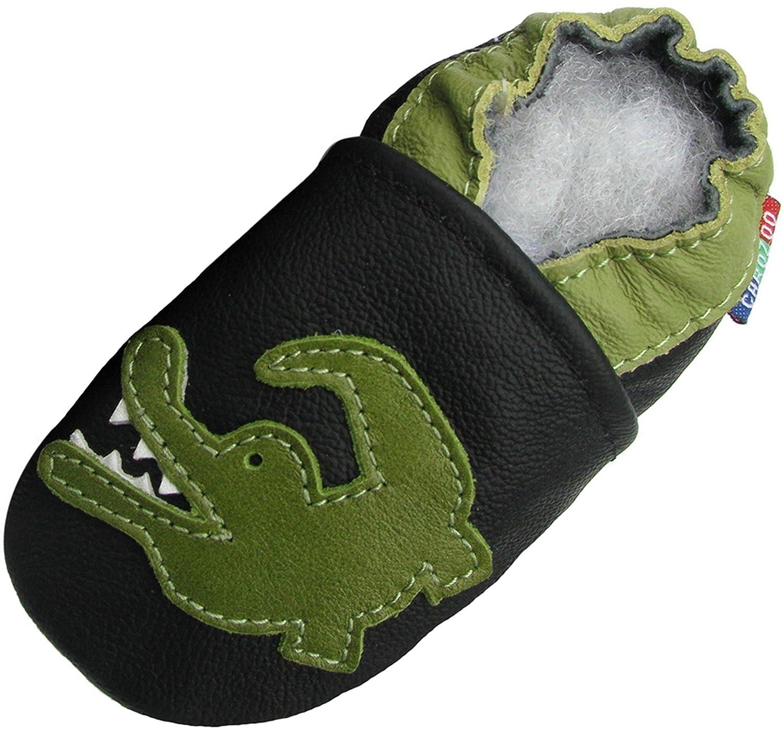 Carozoo Crocodile Black Noir, Chaussures Bébé Semelle Souple Garçons Enfants