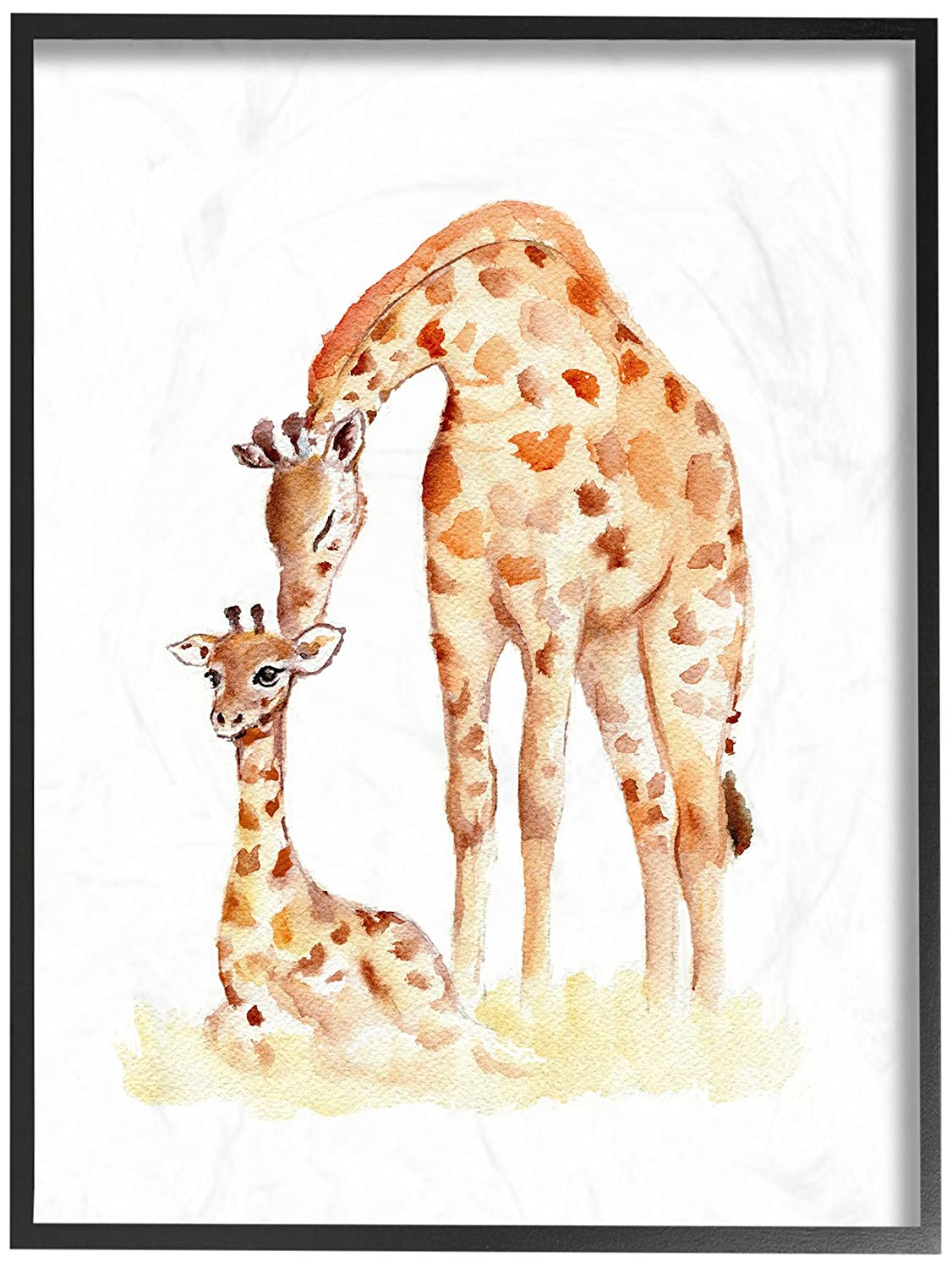 Proudly Made in USA Stupell Industries Giraffe Family Illustration Wall Plaque Art 10 x 0.5 x 15