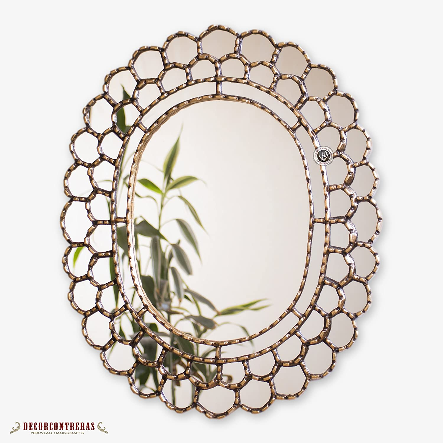 Decorative Oval Wall Mirror 23.6