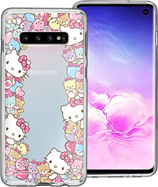Amazon Com Willbee Compatible With Galaxy S10 Case 6 1inch Hello Kitty Cute Border Clear Tpu Soft Jelly Cover Border Hello Kitty