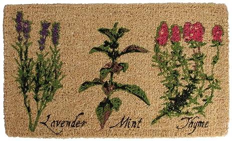 Esschert Design USA Herb Print Outdoor Door Mat & Amazon.com : Esschert Design USA Herb Print Outdoor Door Mat ...