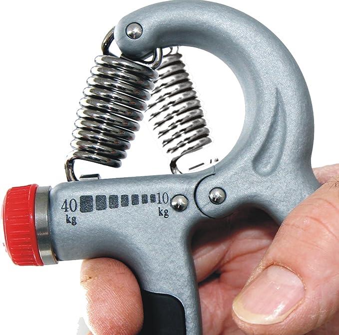 10-40 kg Einstellbares Metall Handmuskeltrainer f/ür St/ärkung von Handgelenk /& Griffkraft Handtrainer