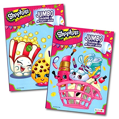 Shopkins Jumbo Coloring and Activity Book - 2 Pack: Toys & Games