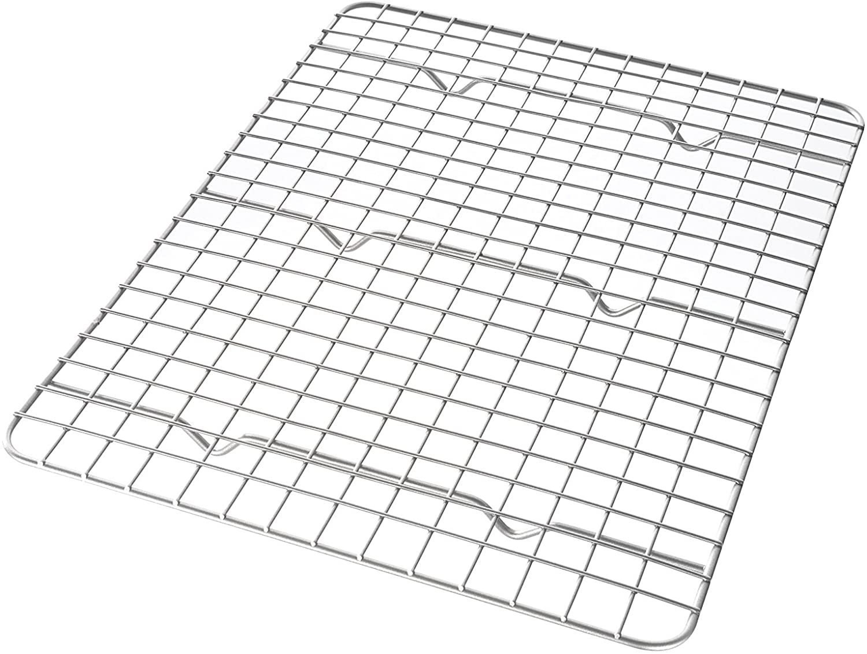 USA Pan 1600CR Quarter Sheet Bakeable Nonstick Cooling Rack, Metal