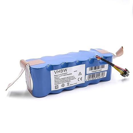 vhbw Batería NiMH 3000mAh (14.4V) para robot aspidador doméstico Profimaster Robot 2712 como