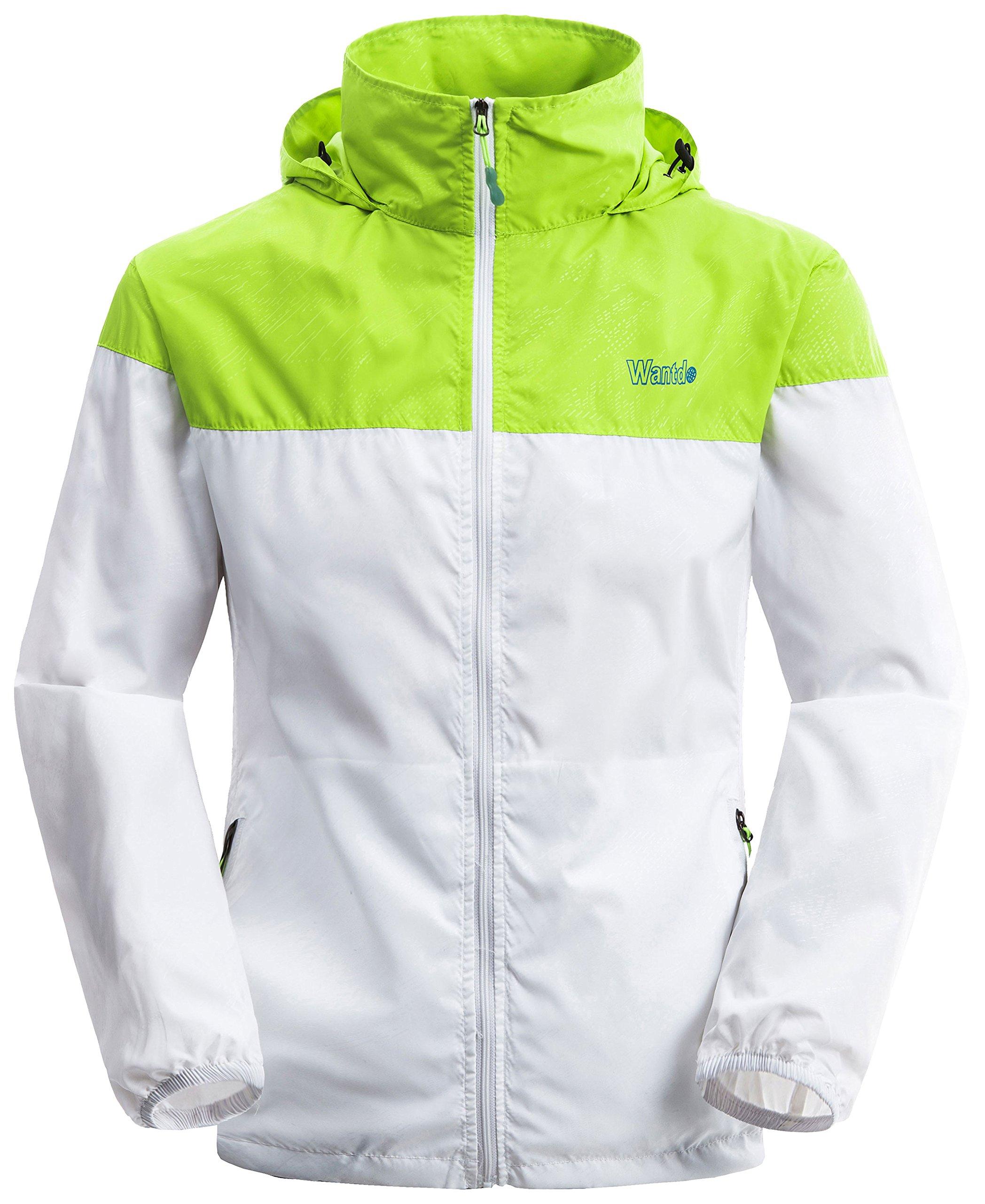 Wantdo Men's Lightweight Windbreaker Fall Packable Sport Outdoor Hooded Jacket