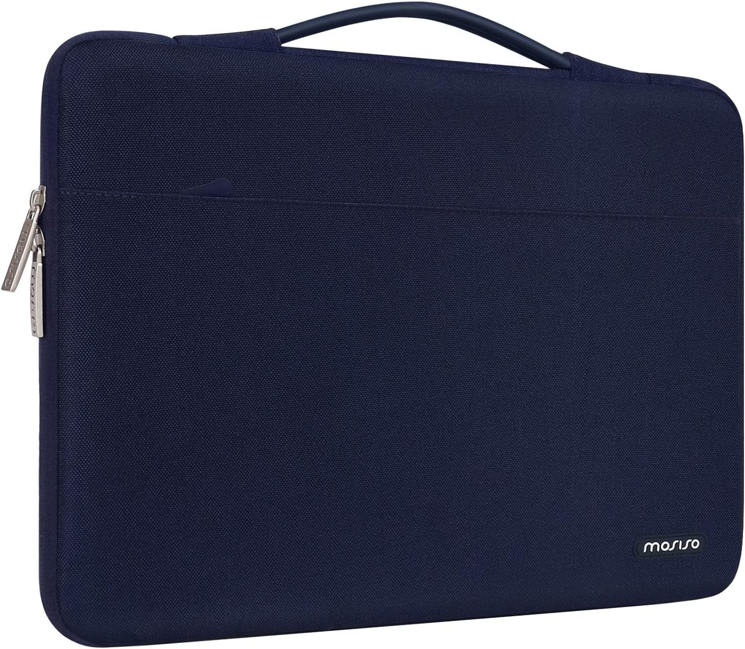 MOSISO Laptop Sleeve 360 Protective Case Bag Compatible with MacBook Pro 16 inch,15 15.4 15.6 inch Dell Lenovo HP Asus Acer Samsung Sony Chromebook,Polyester Briefcase with Trolley Belt, Navy Blue