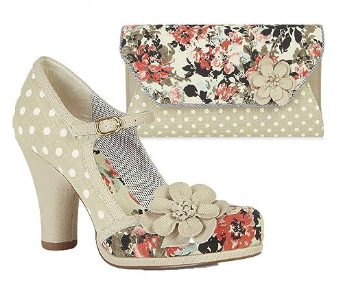 16ba540e Ruby Shoo Women's Tanya Mary Jane Pumps & Matching Tanya Bag: Amazon ...