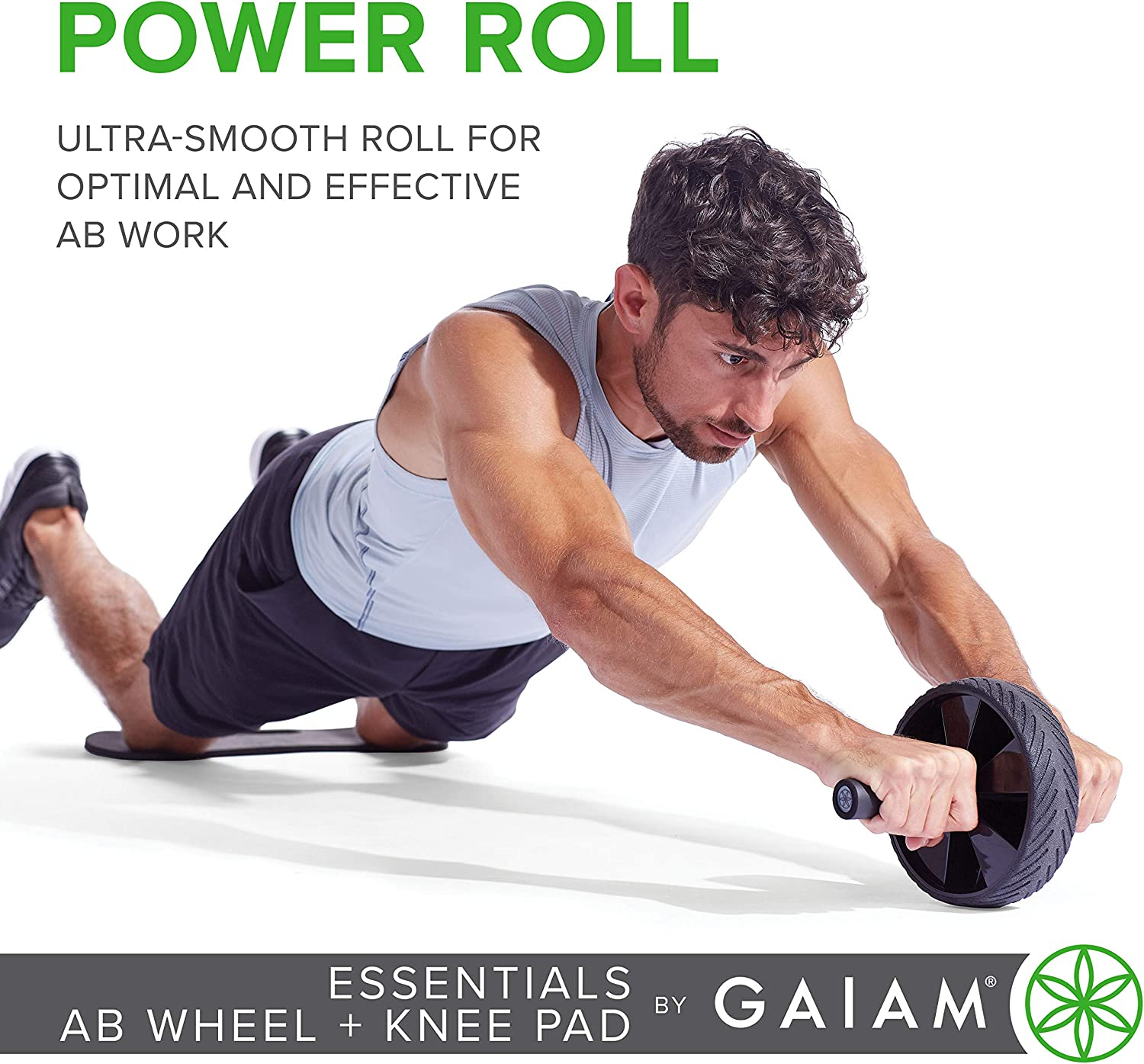 Abs Workout Exercise Equipment Core Training Fitness Equipment with Non-Slip Handles Ab Trainer for Home Gym PanAme Abdominal Wheel