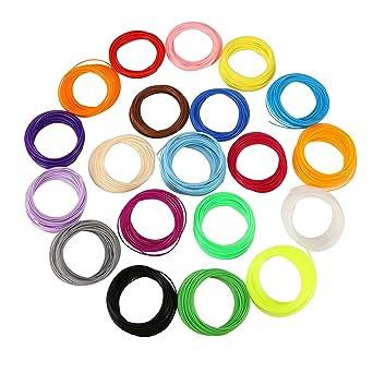 Witasm 3D Filamento ABS 1.75mm de Calidad Premio 20 Colores para ...