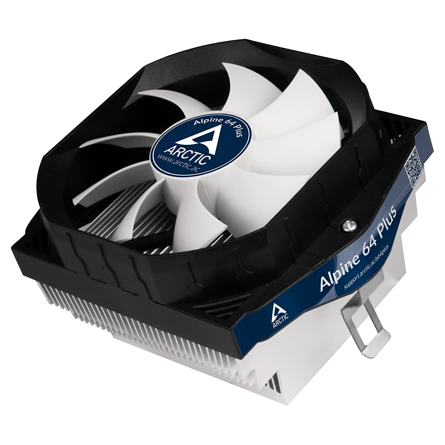 ARCTIC Alpine 64 Plus - Ultra Quiet CPU Cooler fo AMD, Supports Multiple Sockets, 92mm PWM Fan at 23dBA