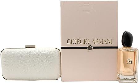 Giorgio Armani Si Gift Set 100ml EDP + Clutch Bag: Amazon.es: Salud y cuidado personal