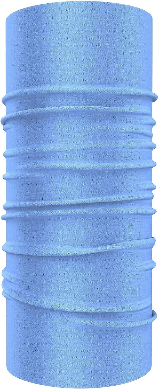 MKR Bandoozi Neck Warmer Lightweight Breathable Neck Tube Balaclava Multifunctional Scarf Snood Headband Face Mask Baby Blue
