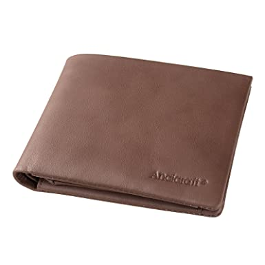 ed52a43c6ee4f Image Unavailable. Image not available for. Color  ANCICRAFT Mens Leather  Wallet Bifold Slim Soft with RFID Blocking