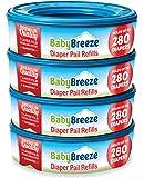 BabyBreeze Diaper Pail Refills Bags for Diaper Genie - 1120 Count (4-Pack)