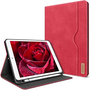 iPad Mini 5 Case iPad Mini 4 Case Cover for iPad Mini 5th Generation with Pencil Holder - PU Leather Folio Smart Cover with Pocket Auto Sleep/Wake Protector for iPad Mini 4/5 7.9 inch