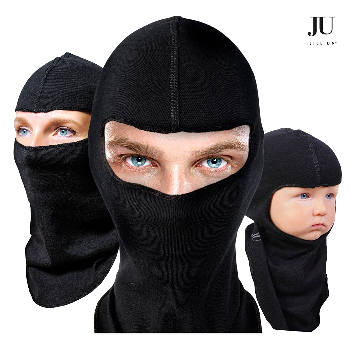 Full face mask neck warmer hood balaclava outdoor winter sports hats - Amazon Com 2 Pack Multipurpose Balaclava Full Face Ski Mask Regular Winter Protection Best Cold Weather Gear For Your Outdoor Work Sports