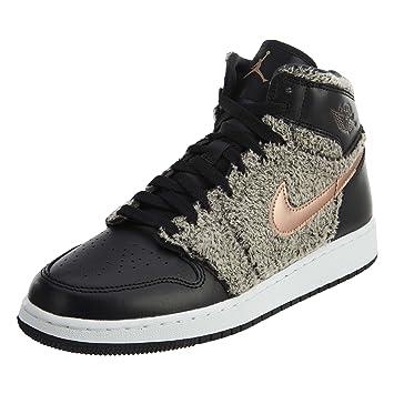 san francisco 5498a 59a7e Nike Kinder Air Jordan 1 Retro High GG Schwarz Textil Synthetik Sneaker 36.5
