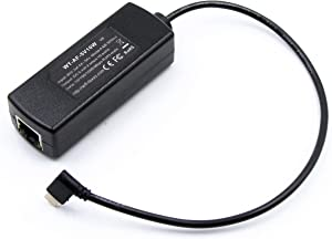 802.3af to 5 Volt PoE Splitter   Compatible with Apple Devices   Power ONLY   Extend Power Over Ethernet Up to 328 Feet