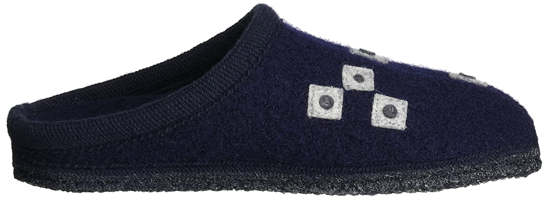 Haflinger Unisex-Erwachsene Walktoffel Geo Pantoffeln Blau (Ocean) (Ocean) (Ocean) 386895