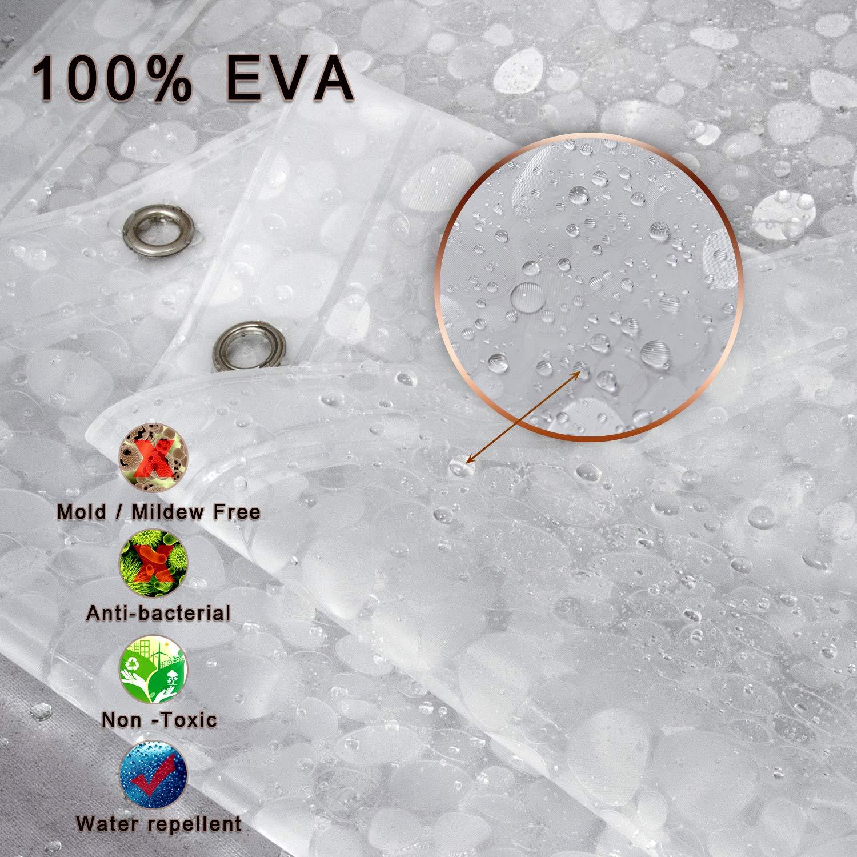 Amazon.com: Cortina de ducha impermeable con forro de goma ...