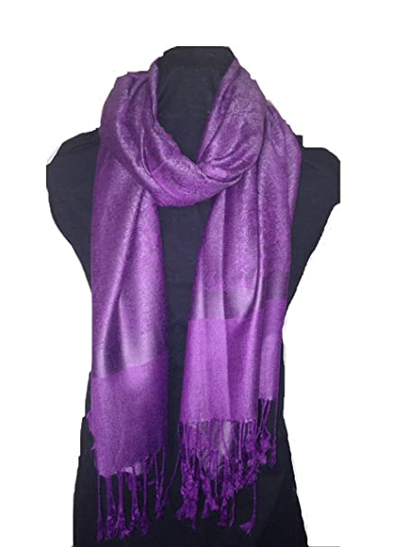 679810cb0803b6 Lila Pashmina-Schal, schöne, weiche, Sommer wrap, fantastisches Geschenk  (Purple