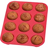 Top Rated Bellemain 12-Cup Non-Stick Muffin and Quiche Pan 100% Silicone, Nonstick, and Easy to Clean-Perfect for Mini Quiche and Pizza Muffins!