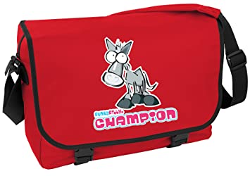 49c604ba57f Image Unavailable. Image not available for. Colour  Funky Filly Pony Girls   Champion Horse Rider  School Messenger Bag ...